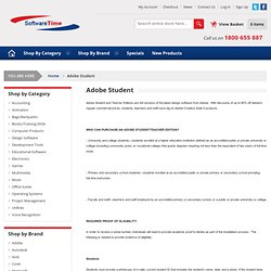 Buy Adobe Student software - Australia