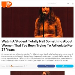 Watch A Student Totally Nail Something About Women That I've Been Trying To Articulate For 37 Years
