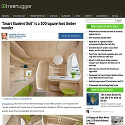 """Smart Student Unit"" is a 100 square foot timber wonder"
