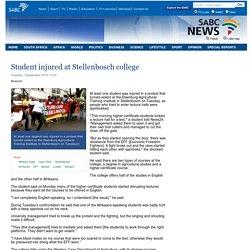 Student injured at Stellenbosch college:Tuesday 1 September 2015