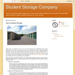 Student Storage Company: Savvy Student Storage