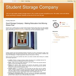 Student Storage Company: Good Storage Company - Making Relocation And Moving Stress Free