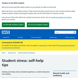 Student stress: self-help tips