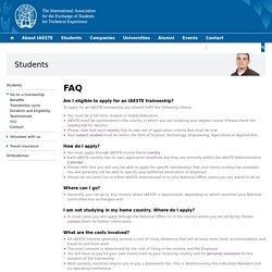 Student Traineeship Abroad - FAQ