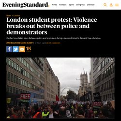 London student protest: Violence breaks out between police and demonstrators