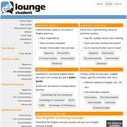 esl-lounge.com Student - Learn English for Free! English Grammar, Vocabulary, Reading & Listening