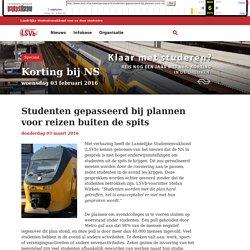 Studenten gepasseerd bij plannen voor reizen buiten de spits - LSVb - Voor heel studerend Nederland