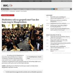 Studenten ook na gesprek met Van der Laan nog in Maagdenhuis