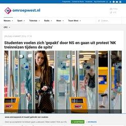 Studenten voelen zich 'gepakt' door NS en gaan uit protest 'NK treinreizen tijdens de spits'