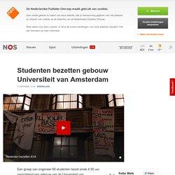 Studenten bezetten gebouw Universiteit van Amsterdam