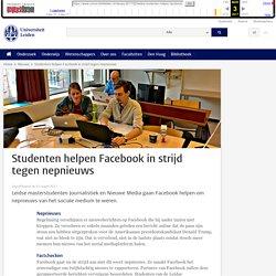 Studenten helpen Facebook in strijd tegen nepnieuws-Universiteit Leiden