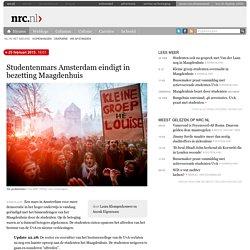 Studentenmars Amsterdam eindigt in bezetting Maagdenhuis