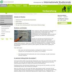Deutsches Studentenwerk - Information for international Students: Jobben