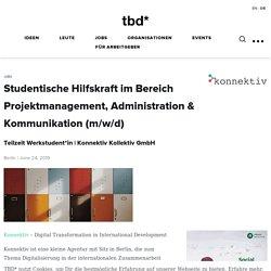 Konnektiv Kollektiv GmbH sucht Studentische Hilfskraft