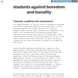 students against boredom and banality