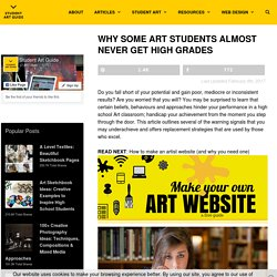 Why some Art students almost never get high grades