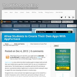Allow Students to Create Their Own Apps With AppFurnace