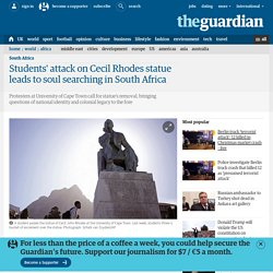 Students' attack on Cecil Rhodes statue leads to soul searching in South Africa