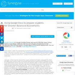 Using Google Docs to prepare students for Smarter Balanced Assessments