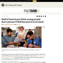 Students don't pursue STEM because it's too hard, say 52% of Americans