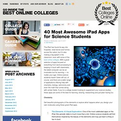 40 Most Awesome iPad Apps for Science Students