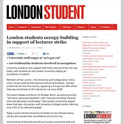 London students occupy building in support of lecturer strike