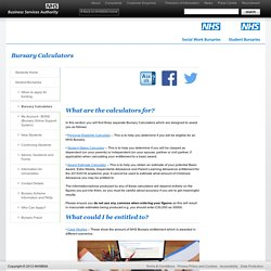 Students Student Bursaries NHS Business Services Authority