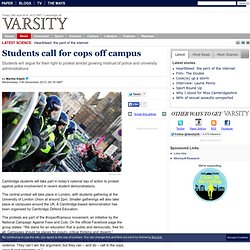 Students call for cops off campus