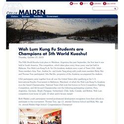 Wah Lum Kung Fu Students are Champions at 5th World Kuoshu!
