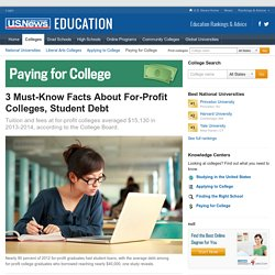 3 Facts for Students to Know About For-Profit Colleges and Student Debt