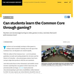Can students learn the Common Core through gaming?