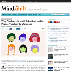 Why Students Should Take the Lead in Parent-Teacher Conferences