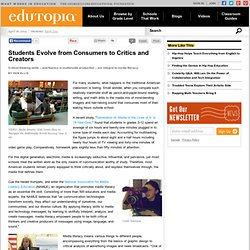 Students Evolve from Consumers to Critics and Creators