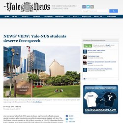 YaledailyNews: Yale-NUS students deserve free speech