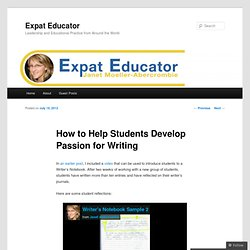 How to Help Students Develop Passion for Writing