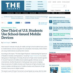 One-Third of U.S. Students Use School-Issued Mobile Devices