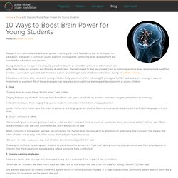 10 Ways to Boost Brain Power for Young Students
