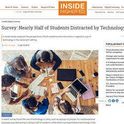 Survey shows nearly half of students distracted by technology