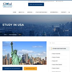 Study in USA, Study Abroad in USA for Indian Students , USA Education Consultants.