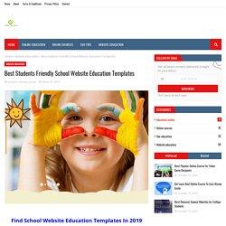 Best Students Friendly School Website Education Templates