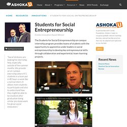 Students for Social Entrepreneurship