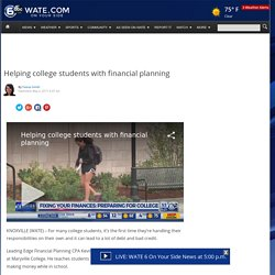 Helping college students with financial planning