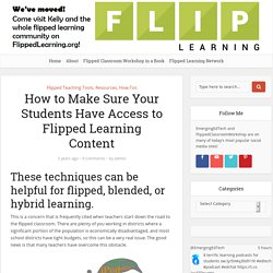 How to Make Sure Your Students Have Access to Flipped Learning Content