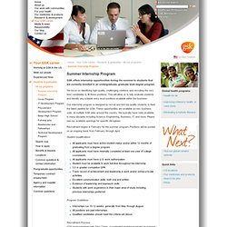 Summer Internship Program - All our programs - Students and graduates - Your GSK career - GlaxoSmithKline