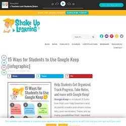 15 Ways for Students to Use Google Keep [infographic]