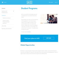 AIG Graduate Programme