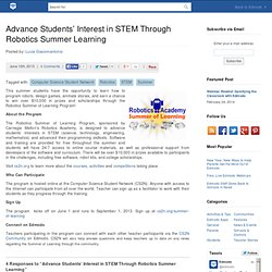 Advance Students' Interest in STEM Through Robotics Summer Learning
