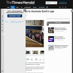 Students use iPads to illustrate Earth's age
