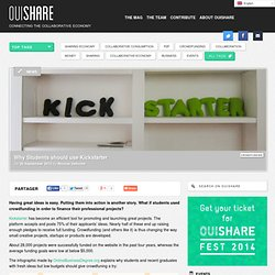 Why Students should use Kickstarter