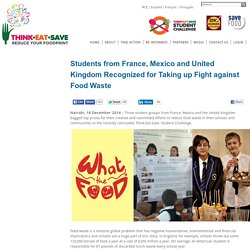 What the food remporté remporté le Grand Prix du Think Eat Save Challenge de l'ONU !
